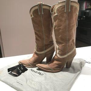 Nando Muzi Suede Cowboy Boots 39.5